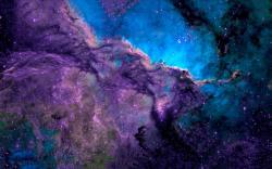 Space purple blue nebula