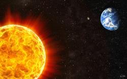 Download: Sun Stars Planets Earth Space Desktop