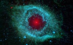 This infrared image from NASA's Spitzer Space Telescope shows the Helix nebula, a cosmic starlet