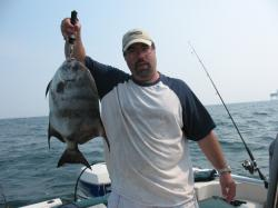 A large Atlantic spadefish caught off the coast of Virginia.
