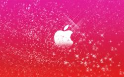 Sparkly Apple Wallpaper
