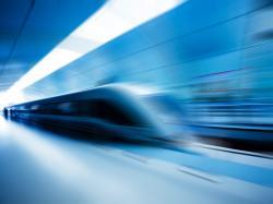 Blue Blur High Speed Train wallpaper