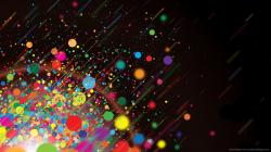 Link to this wallpaper: Download 1366x768 Colorful Splash Wallpaper