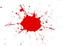 ... red paint splatter ...