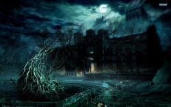 Spooky House wallpaper