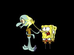 Hanging out with Squidward by SuperMaster10 ...