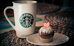 Starbucks Mug Cup Cake Heart Love
