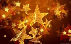 ... Golden Christmas Stars for 1440x900