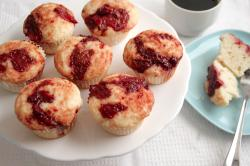 Roasted Strawberry Buttermilk Muffins {adapted from Joy the Baker}