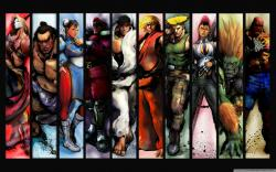 Street Fighter Characters HD Wide Wallpaper for Widescreen