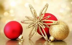 Beautiful Christmas ornament wallpaper
