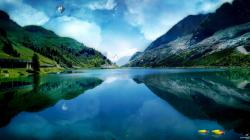Right click to download Stunning Lakeside City Landscape Facebook Timeline Cover
