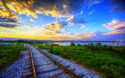 Train Track Wallpaper HD