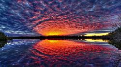 Stunning Sunset Reflection Hdr HD Desktop Background wallpaper