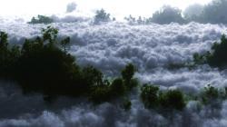 Stunning White Clouds Wallpaper