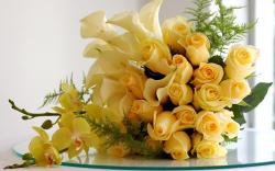 Stunning bouquet of yellow roses
