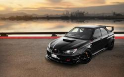 Subaru Impreza Black Car Tuning