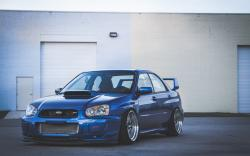 Subaru Impreza WRX ​​STI Tuning Blue Car HD wallpaper 1680x1050 ...