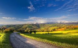 Summer landscape road hd