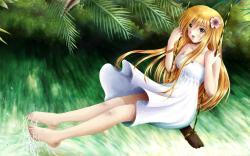 Summer Mood Girl Anime Swing