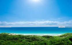 Sunny coast sea