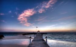 Sunrise at the Pier HD Wallpaper