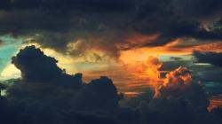Dark sunset clouds HQ WALLPAPER - (#120546)