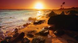 Beautiful Sunset In Hawaii
