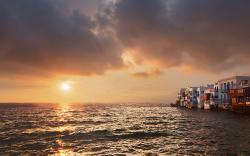 Sunset mykonos greece