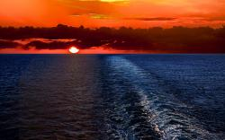 Sunset ocean scenery Wallpapers Pictures Photos Images. «
