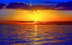 Sunset over Ocean 1