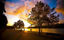 Sunset river walk