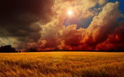 Sunset sky clouds