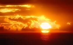 Sunset sun ocean sky
