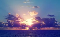 Sunshine over sea