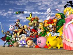 """Super Smash Bros. Melee"" desktop wallpaper (1024 x 768 pixels)"