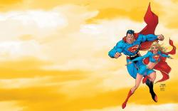 Superman Clark Kent and Supergirl Kara Kent Art