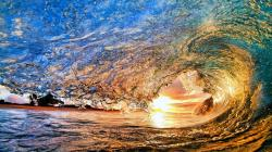 Spectacular wave in sunset HD wallpaper 1920x1080 ...