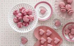 Sweet Dessert Macaron Hearts