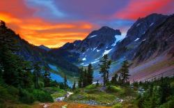 Switzerland mountains sunset