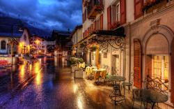 Zermatt Switzerland Cafe Tables Street Old Town HD Wallpaper