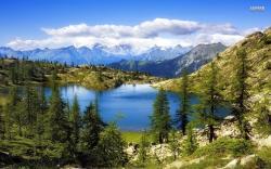 Lago Bianco, Switzerland wallpaper 1680x1050