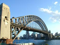 Wallpaper of under the sydney harbour bridge