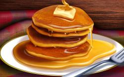 Download Pancakes with butter and maple syrup 1920x1200 Wallpaper