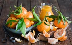 3840x2400 Wallpaper tangerines, fruit, citrus fruit, leaves, peels, cloves, juice