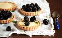 Tarts Cream Berries Blackberries Sweets