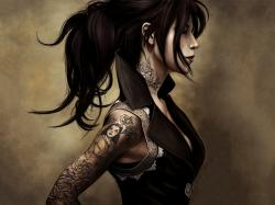 Description: The Wallpaper above is Tattoo girl art Wallpaper in Resolution 1600x1200. Choose your Resolution and Download Tattoo girl art Wallpaper