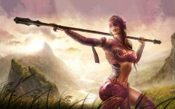 Tattoo girl warrior