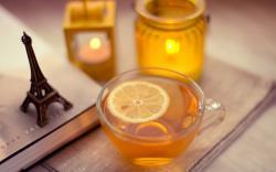 Tea Lemon Book Figurine Eiffel Tower Candles