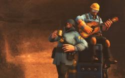Team Fortress 2 Wallpaper Soldier and Engie Chill by DUNKMOVIES